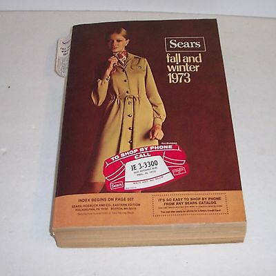 Vintage Sears Fall Winter Catalog 1973 Roebuck Book Clothing Fashion Craftsman