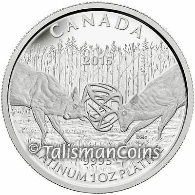Canada 2015 White-Tailed Deer Challenge $300 Pure Platinum Proof MINTAGE 200!