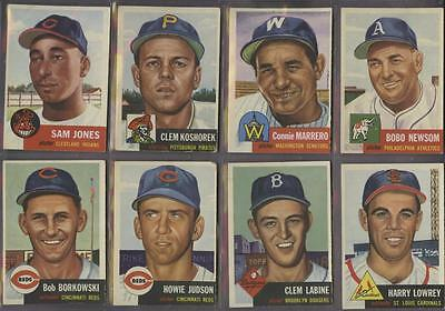 1953 Topps Lot of 72 Different Cards