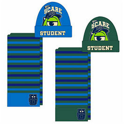 MONSTERS UNIVERSITY  2pc Set- Hat&Scarf + free Gloves- for ages approx 4-8 years