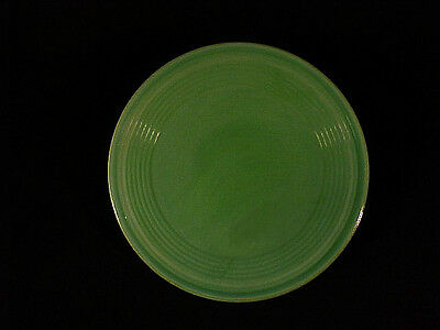 Akro Agate Large Concentric Ring Childrens Opaque Green Plate / 10 Available