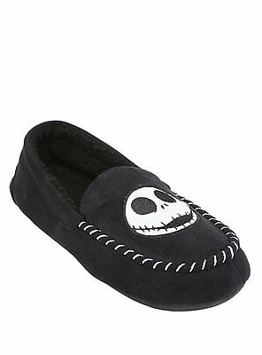 Nightmare Before Christmas JACK SKELLINGTON Moccasin Slippers MENS House Shoes