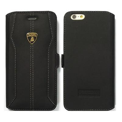 Lamborghini Huracan-D1 Leather Ultra Slim Side Flip Case for iPhone 6/6s BLACK