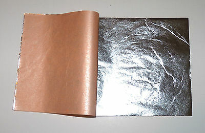 "Pure 999 Silver Leaf Sheets 50 Leaves - 3.75"" x 3.75"" Gilding, Art Work, Edible"