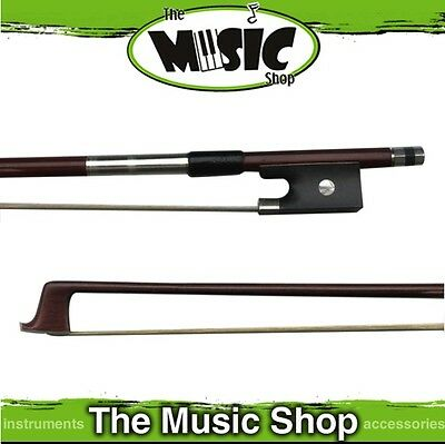 New 4/4 Hardwood Round Violin Bow - Natural Hair, 73cm Long - VBO824