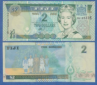 FIJI 2 Dollars P 104 a ( ND 2002 ) UNC Low Shipping! Combine FREE!