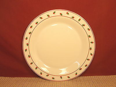 Arcopal Dinnerware Red & Green Squares on White Design Dinner Plate 10 1/4""