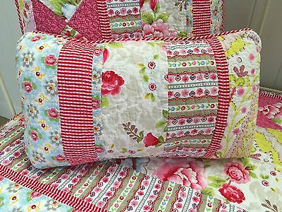 Stella Small Filled Shabby Chic Quilted Rectangle Decorator Cushion