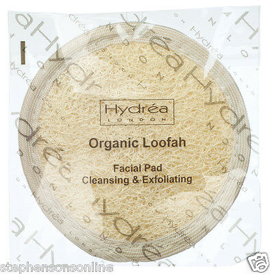 Hydrea London Organic Egyptian Loofah Facial Cleansing & Exfoliating Pad LO10