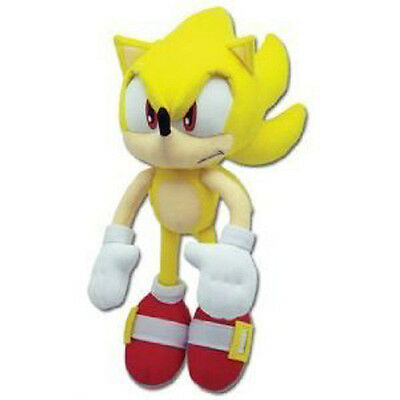 "Genuine ~ 12"" Super Sonic Great Eastern Sonic the Hedgehog Plush New Stuffed Toy"