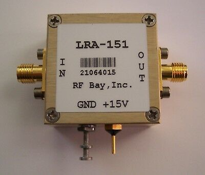 3-600MHz Hi-Rel RF Amplifier 15V, LRA-151, New, SMA