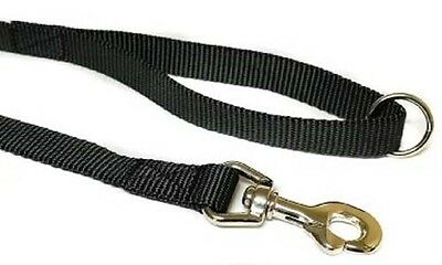 Canac Strong Nylon Dog Lead Trigger Hook 1.8 Metres Long 25mm Wide Black