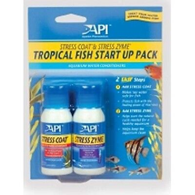 API Tropical Start Up Stress Coat & Zyme Water Treatment Twin Pack 2 x 30ml