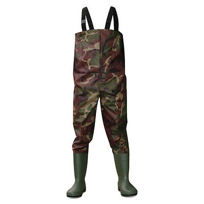 Dirt Boot™ Camo Nylon Chest Waders 100% Waterproof Fly Coarse Fishing Muck Wader