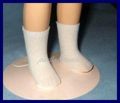 "Opaque White Nylon Knit Doll SOCKS for Ideal 14"" Betsy McCall TONI"
