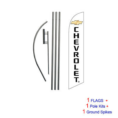 Chevrolet 15' Feather Banner Swooper Flag Kit with pole+spike