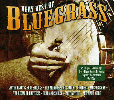 The Very Best Of BLUEGRASS 75 Original Recordings MUSIC COLLECTION New 3 CD