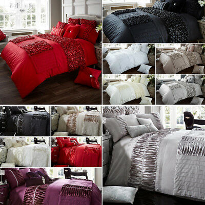 Verina Duvet Cover with Pillowcase Quilt Cover Bed Set Single Double King