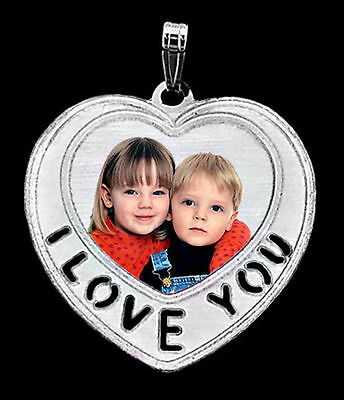 I Love You Valentines Day Custom Photo Charm 925 Silver Necklace Picture Pendant