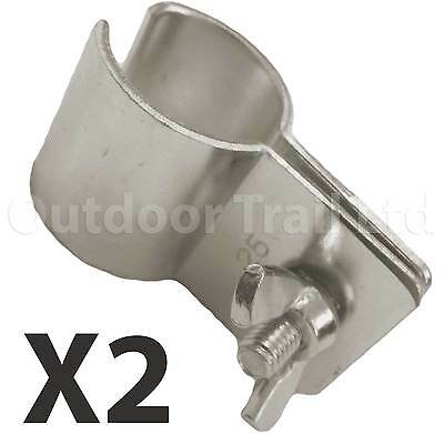 W4 Genuine Caravan Motorhome Awning Butterfly Canopy Pole End Clamp 25 - 28mm