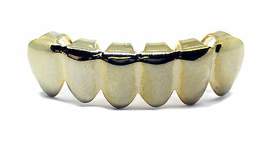 Grillz Semplice Placcati Oro Inferiore File Hip Hop Bling-Bling Grillz