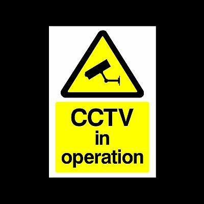 CCTV in Operation - 3mm Metal Sign - 3 Sizes - Weatherproof (MISC11)