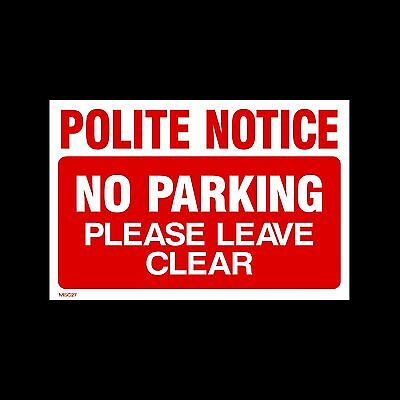 No Parking Keep Clear - 3mm Metal Sign - 3 Sizes - Weatherproof (MISC27)
