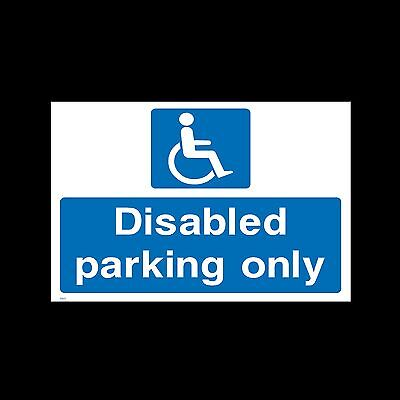 Disabled Parking Only - 3mm Metal Sign - 3 Sizes - Weatherproof (HS11)