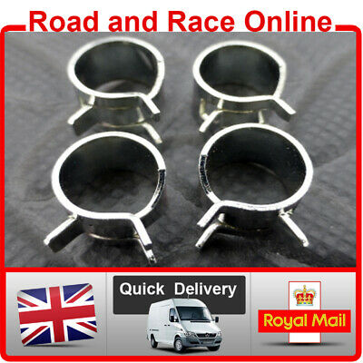 8mm I/D Fuel Line Petrol Pipe Clips Spring Loaded Type Pack Of 4 Suit Kawasaki