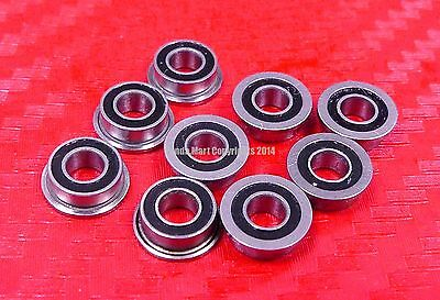 4x13x5 mm 10pcs F624-2RS Flanged Metal Rubber Sealed Ball Bearing F624RS