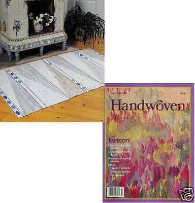 Handwoven magazine mar/apr 1988: tablecloth, rug, tapestry