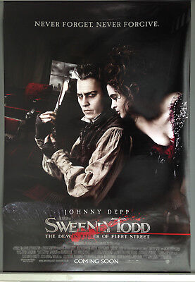 Cinema Poster: SWEENEY TODD 2008 (Main One Sheet) Johnny Depp Tim Burton