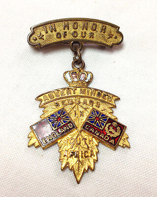 Canada Absent Minded Beggars in South Africa Military Souvenir Pin Medal 1900
