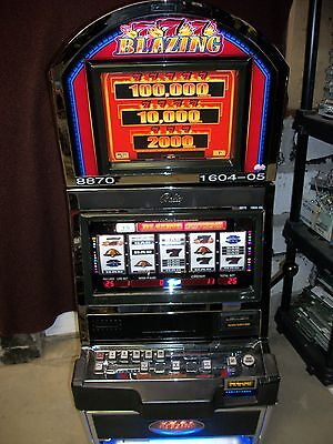 BALLY ALPHA 9000 BLAZING 7's 5-REEL SLOT MACHINE