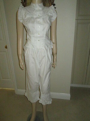 Vintage VICTORIAN/EDWARDIAN Bloomers, Cami & Greeting Jacket - 3 Pieces
