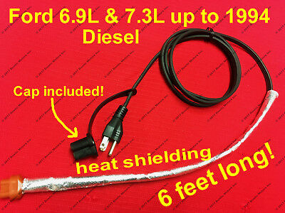 oem ford engine block heater wiring harness f diesel l l ford 7 3 6 9 l diesel block heater cord 1983 1994 f350 f250 e350 e250
