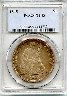 C5881- 1845 Seated Liberty Dollar Pcgs Xf45 - 24,500 Minted