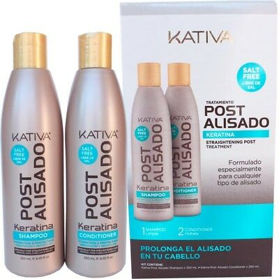Kativa Keratina Tratamiento Post Alisado Shampoo 250 ml + Conditioner 250 ml