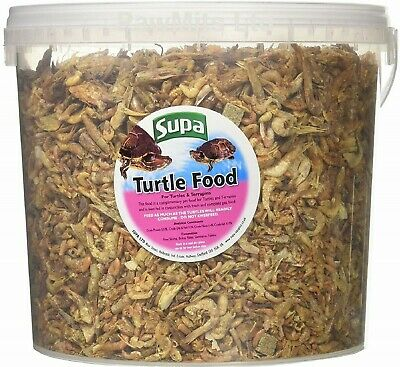 TURTLE & TERRAPIN - (3 Litres) - Supa Reptile Food Shrimp bp PawMits 3000ml Feed
