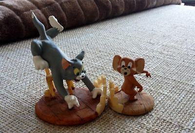 Extreem Rare! Turner Ent. Tom & Jerry Polyresin Small Statues Set 1999 Marked