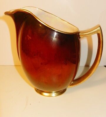 1940's ANTIQUE~ART DECO Carlton Ware Rouge Royale 14 Oz Pitcher Pattern # 1582