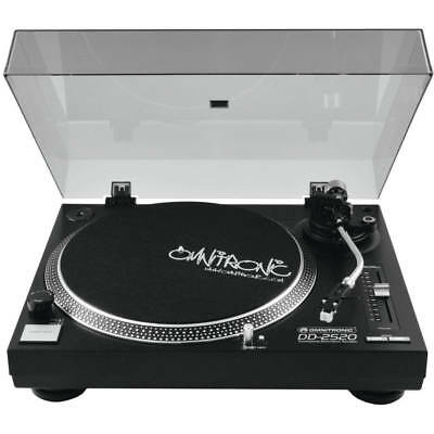 Omnitronic Plattenspieler DD-2520 USB schwarz Turntable + Recording Software