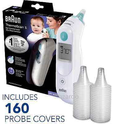 NEW Braun ThermoScan 5 6020 Baby Digital Ear Thermometer with 160 Probe Covers