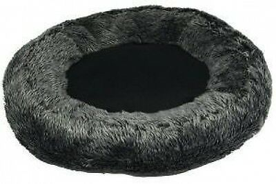 Mikki Luxury Cat Oval Donut Bed Sleeper Snoozer Charcoal