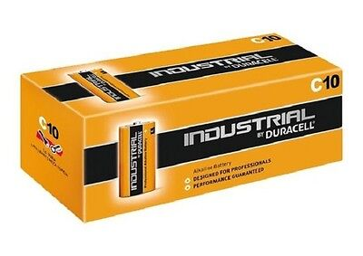 10 Pilas Alkalina Lr14 Duracell Industrial C R14 Mn1400 Baby Meza Torcia Battery