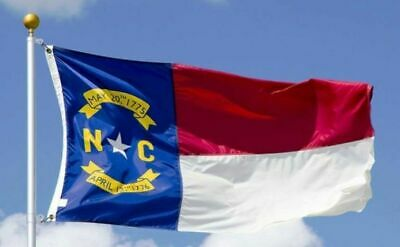 NORTH CAROLINA The Tar Heel State OFFICIAL FLAG 5X8 FT OUTDOOR NYLON MADE IN USA