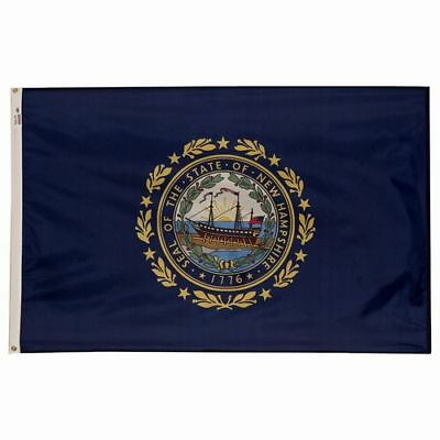 NEW HAMPSHIRE Live Free or Die OFFICIAL STATE FLAG 5X8 FT OUTDOOR NYLON USA MADE