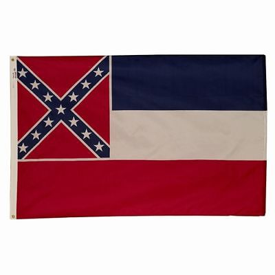 MISSISSIPPI The Hospitality State OFFICIAL FLAG 5X8 FT OUTDOOR NYLON USA MADE