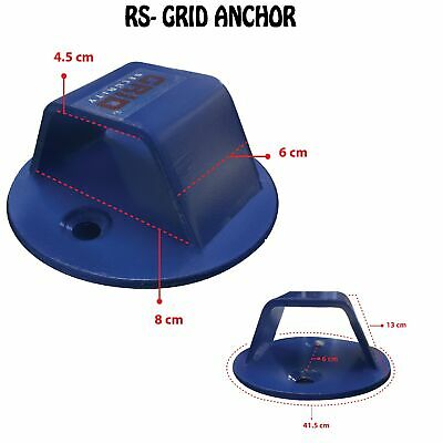 Motorcycle Motorbike Motocross Quad Bike Security Grid Ground Anchor New