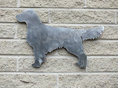 Golden Retriever Silhouette in Mild Steel for Weathervanes or Features in Gates
